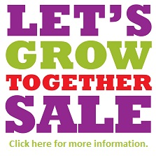 Let's Grow Together Sale May 2-4 2014