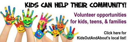 Volunteering with Children can be gratifying! Here's where to do that in our area.