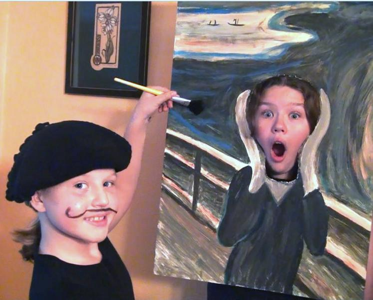 Instructions  sc 1 st  Kids Out and About Albany - KidsOutAndAbout.com & Halloween costume 2011: Edvard Munch and The Scream | Kids Out and ...