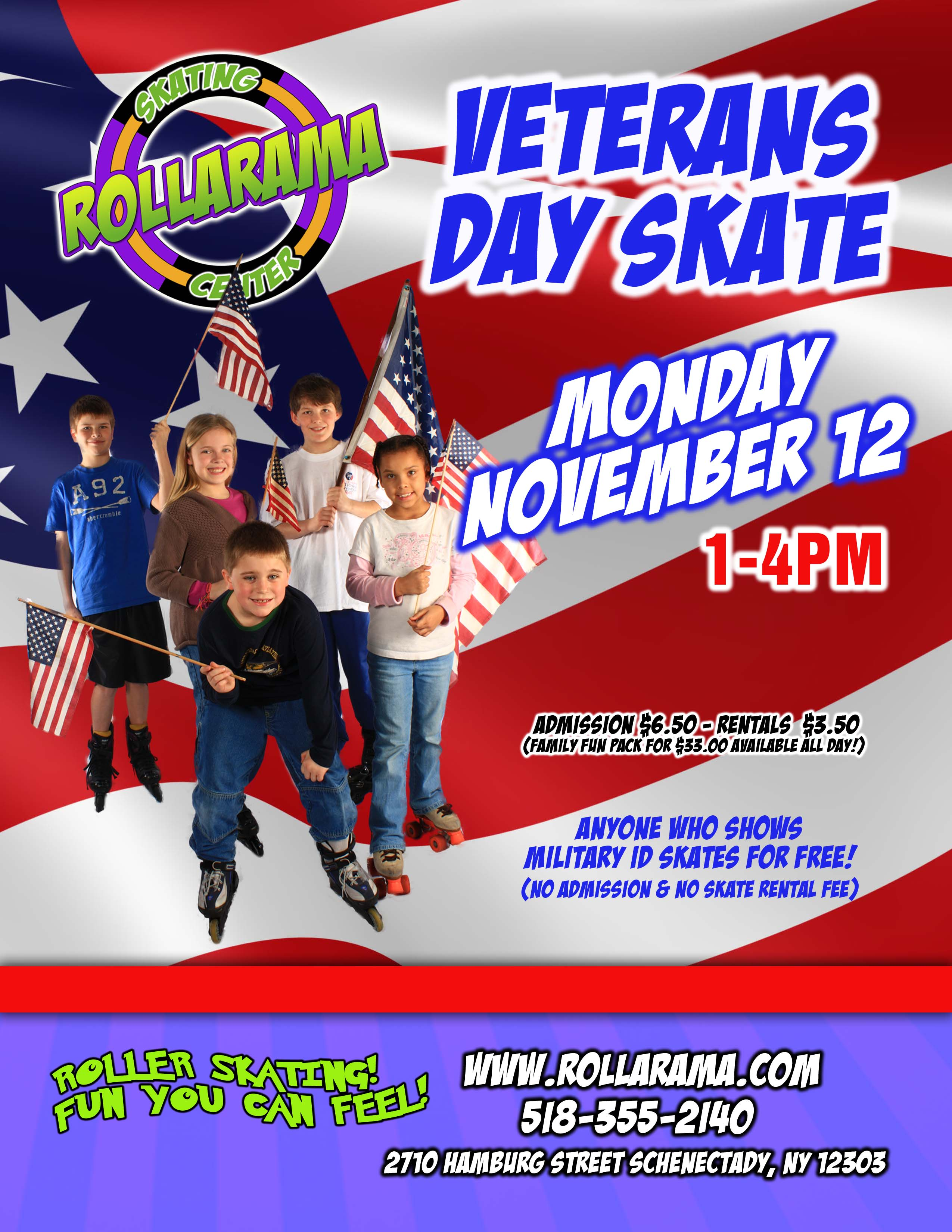 Veterans Day Skate   Kids Out and About Albany