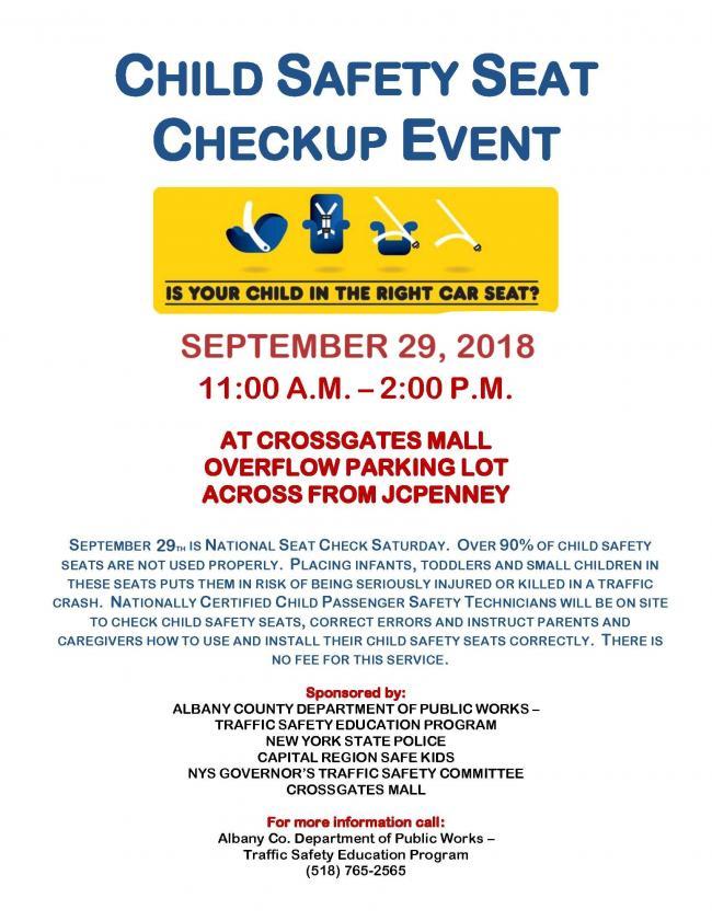 FREE Child Car Seat Check & Installation at Crossgates Mall   Kids