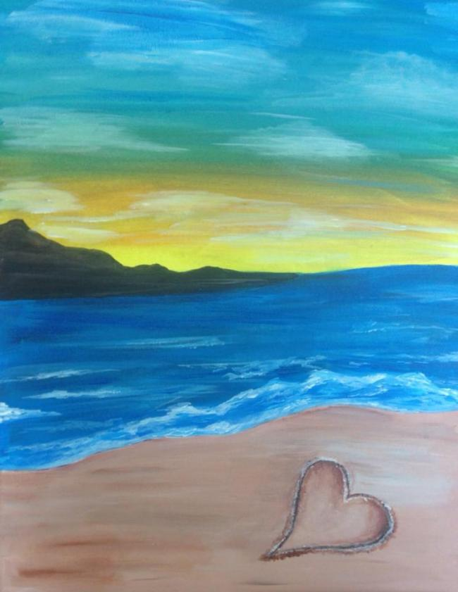 LETS BEACH IT PAINTING
