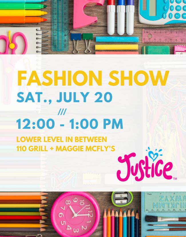 "Justice ""Back to School"" Fashion Show - Crossgates Mall"