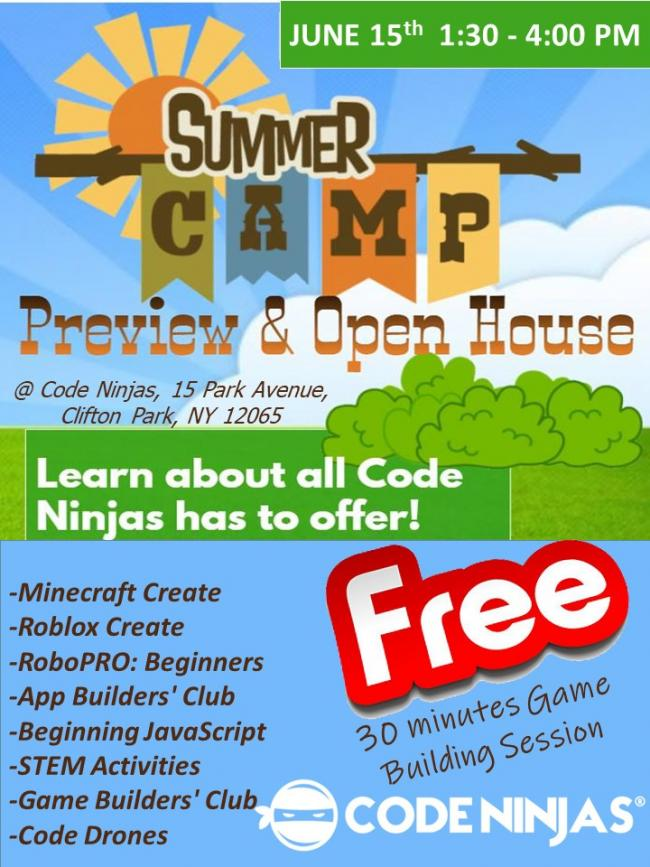 CODE NINJAS: Summer Camp Preview and Open House | Kids Out