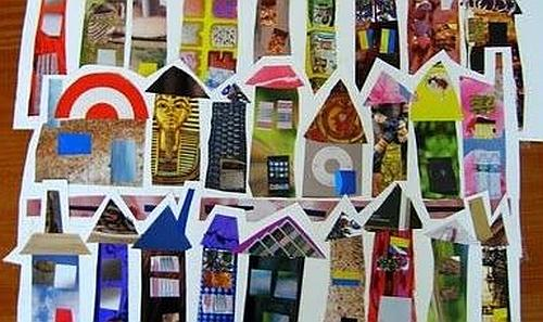 Recycled Art: Magazine Collages | Kids Out and About Albany